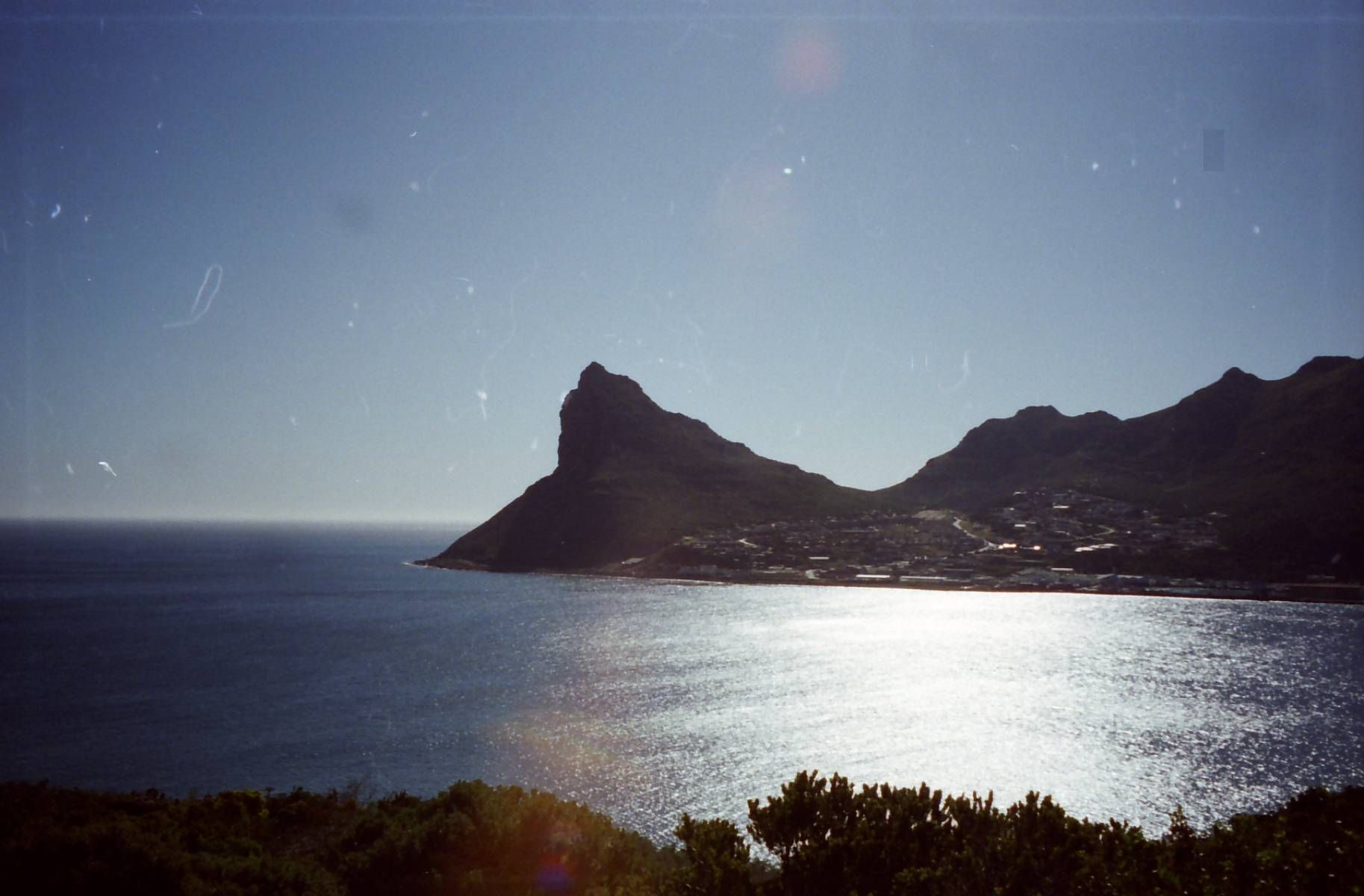 The entrance to Hout Bay on the Cape Peninsular