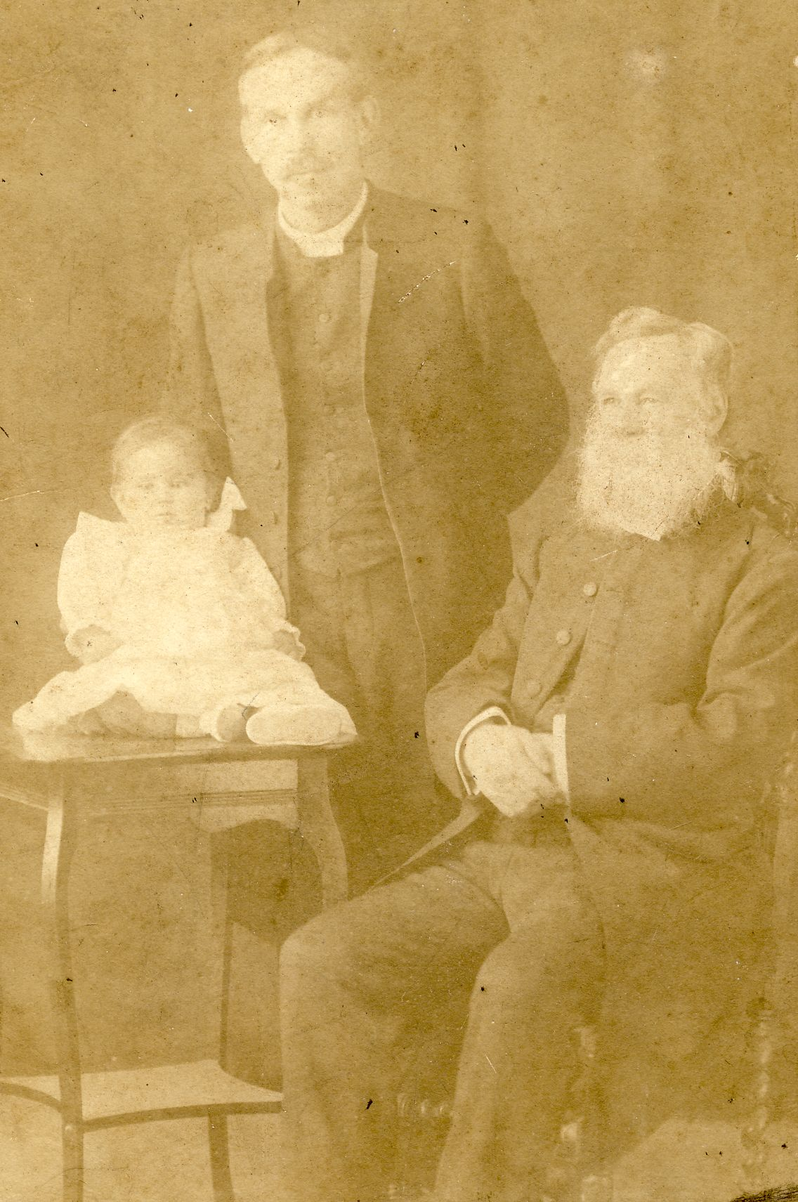 My father (the baby!), with his father and grandfather