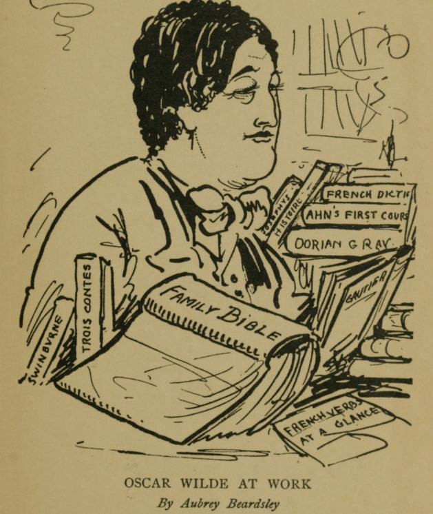 Oscar Wilde by Beardsley