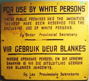 Typical apartheid sign. Image via Wikipedia